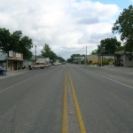 Main street, Camp Wood!