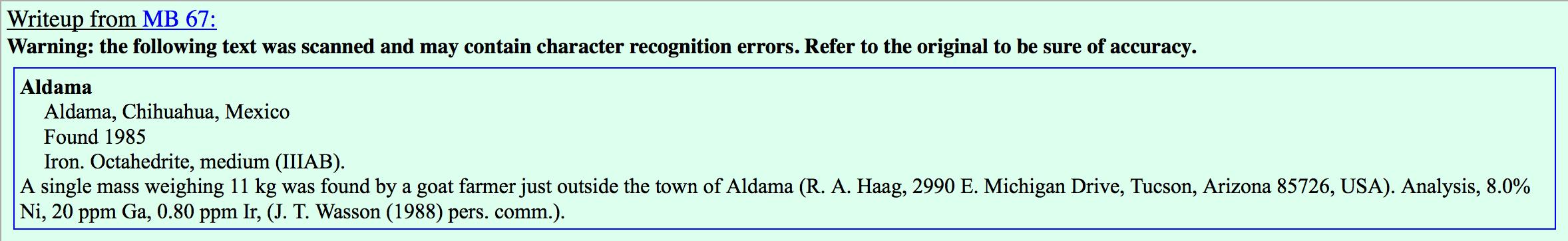 Aldama (a) write-up.
